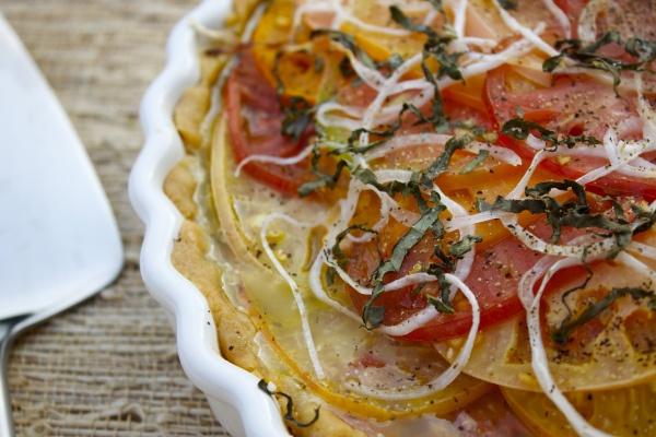 Summer tomato tart   Gluten-free   Savory   Pinterest