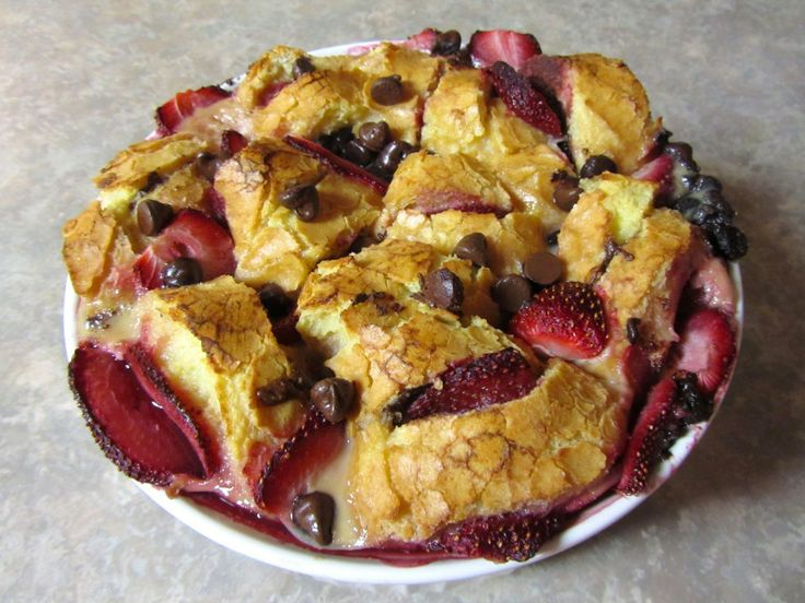 strawberry nutella bread pudding | Nutella..nothing better | Pinterest