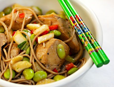 Ginger-lime tuna with buckwheat (soba) noodles | Recipe