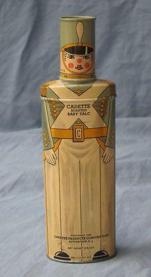 Vintage Cadet baby talc, 1930's.