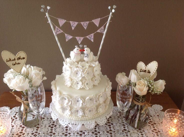 20th Wedding Anniversary Gumpaste Birds And Flowers