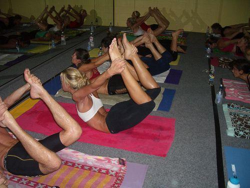 Hot yoga!