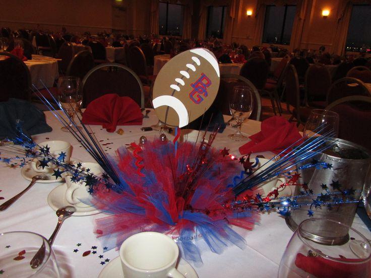 Football banquet centerpiece party ideas pinterest
