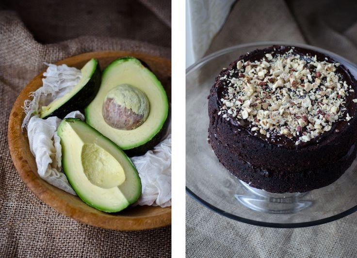 Vegan Chocolate Hazelnut Avocado Cake from Scaling Back.