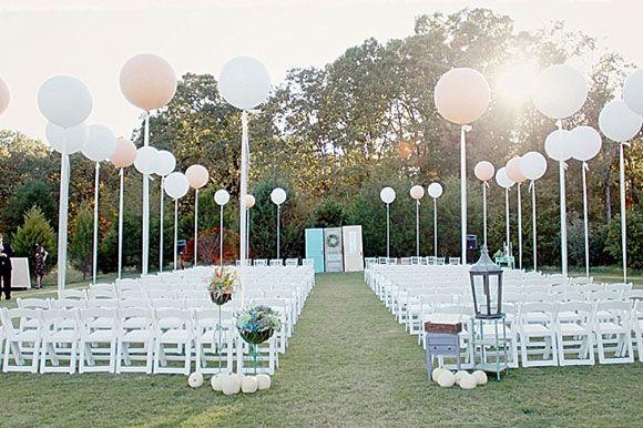 Gros ballon deco ceremonie en extérieur  Ceremonies - Mariage ...