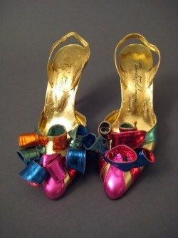 80s Beverly Feldman Metallic Colorful PARTY by ViviVintageShop, $115