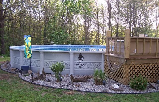 Landscaping around pool home pinterest for Landscaping around pool
