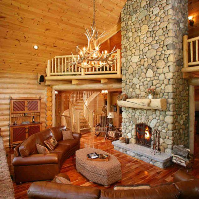 Log Cabin Interior Log Cabin Pinterest