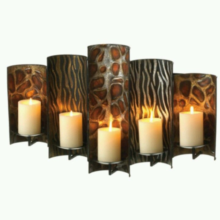 Safari candle holder safari home decor pinterest Home decor candlesticks