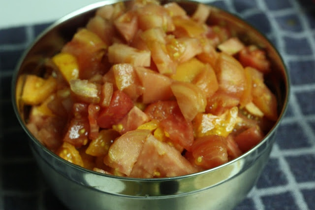 Canning diced tomatoes 85 minute water bath, 25 min pressure canner