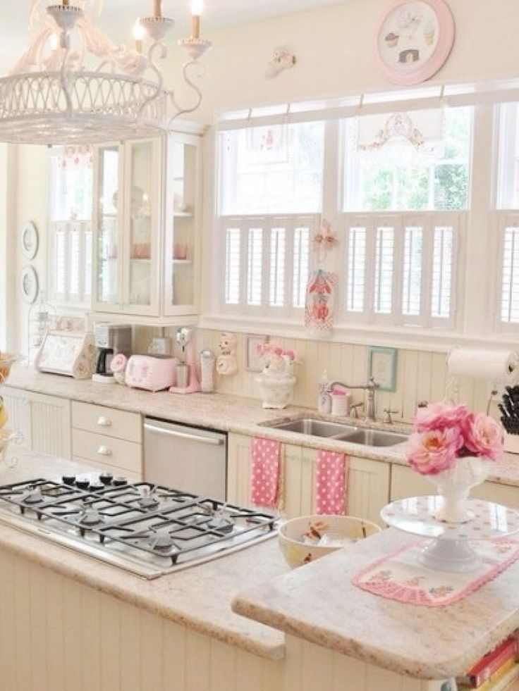 Girly kitchen literally obsessed girly kitchen for Kitchen decoration pink