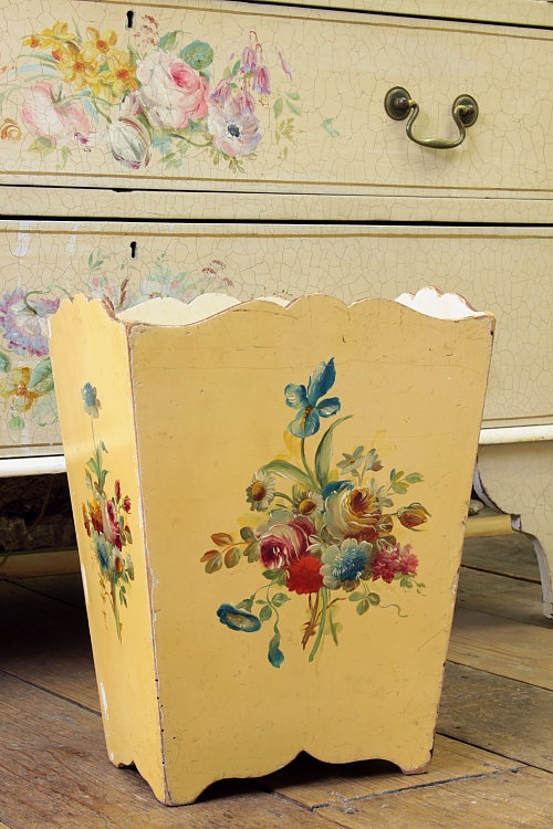 Pinterest discover and save creative ideas - Shabby chic wastebasket ...