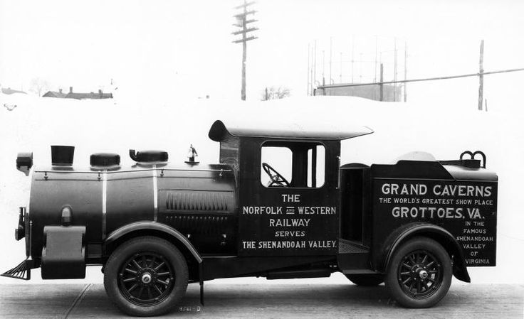 Title Advertising on Automobile for Grand Caverns in Grottoes, Virginia