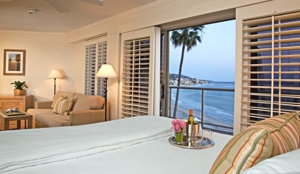 Inn at Laguna Beach: Splurge on the Oceanview King with Balcony for unforgettable views. Rates from $315/night. Email info@sodynamite.com or visit www.sodynamite.com to book this deal!