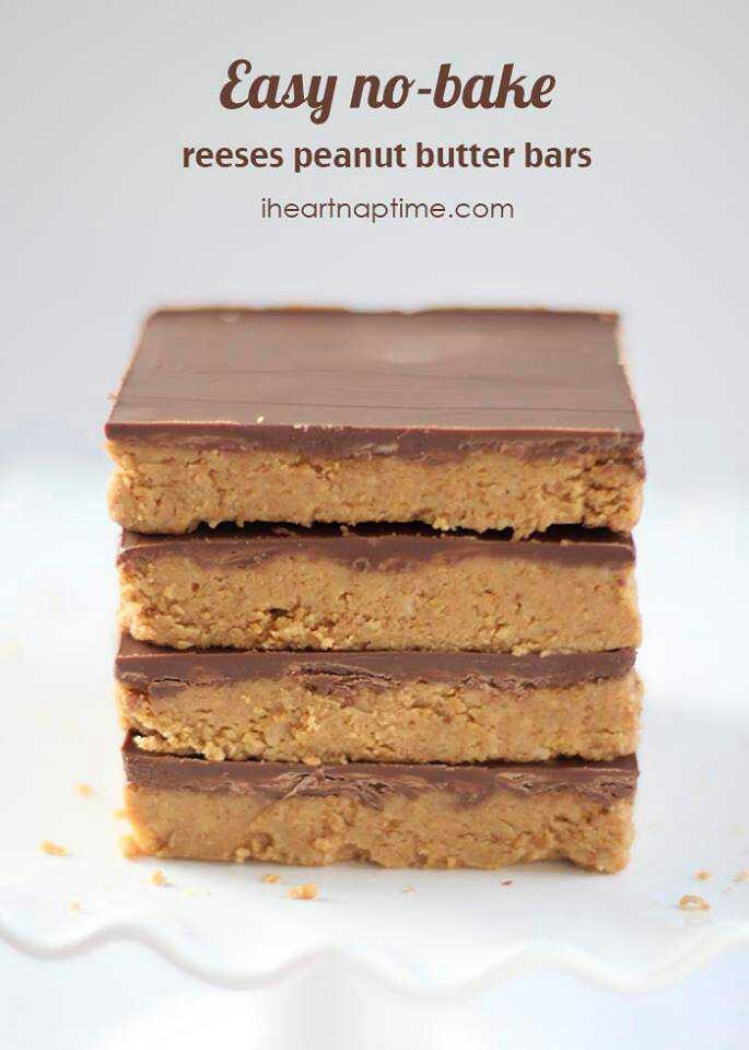 Easy no bake peanut butter bars recipes pinterest for Easy sweet treats with peanut butter
