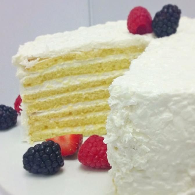 Coconut Cloud Cake | good eats | Pinterest
