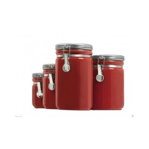 ceramic canister set 4 piece kitchen counter cooking flour vintage silver rectangular kitchen counter canisters complete