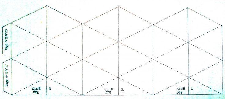 Как сделать флексагон из бумаги для схема