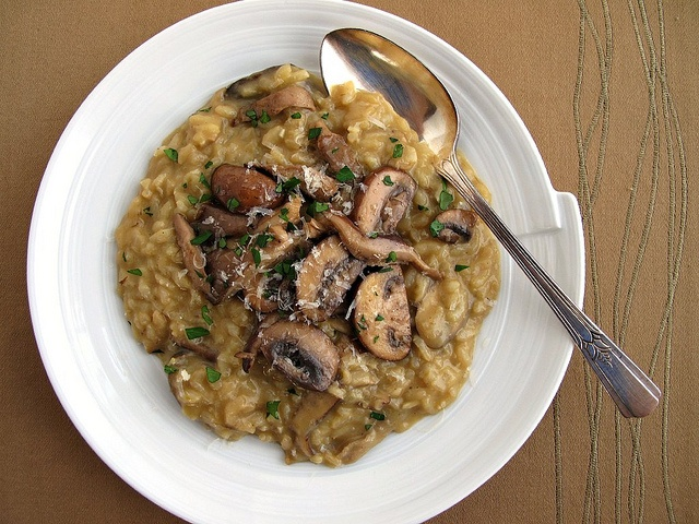 mushroom risotto - excellent, need to make this more often.