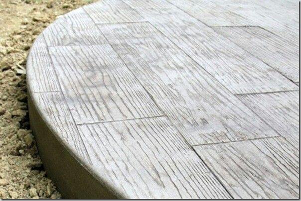 Faux Bois Beton : Faux bois concrete deck Concrete Ideas Pinterest