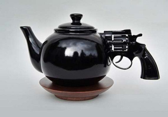 Pistol Handled Tea Pot