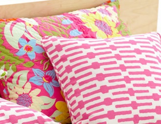 I pinned this from the Grape & Grapefruit - Headboards, Pillows & More with a Pop of Summer Color event at Joss and Main!
