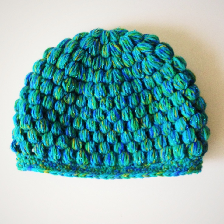 Crocheting Puff Stitch : Puff Stitch Crochet Hat for Baby or Toddler. $18.00, via Etsy.