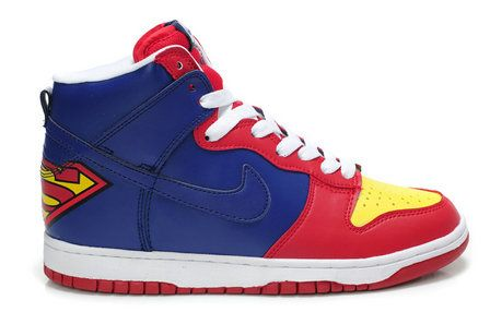 Nike SB Superman High Dunks Shoes DC Comics