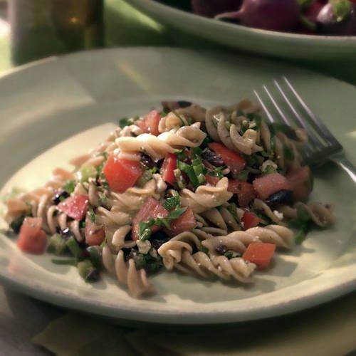 Fusilli With Garden-Fresh Tomato 'Sauce' | Recipes | Pinterest