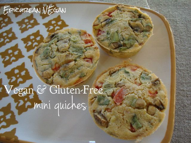 Vegan and gluten free mini quiches. These are unbelievably good!!!