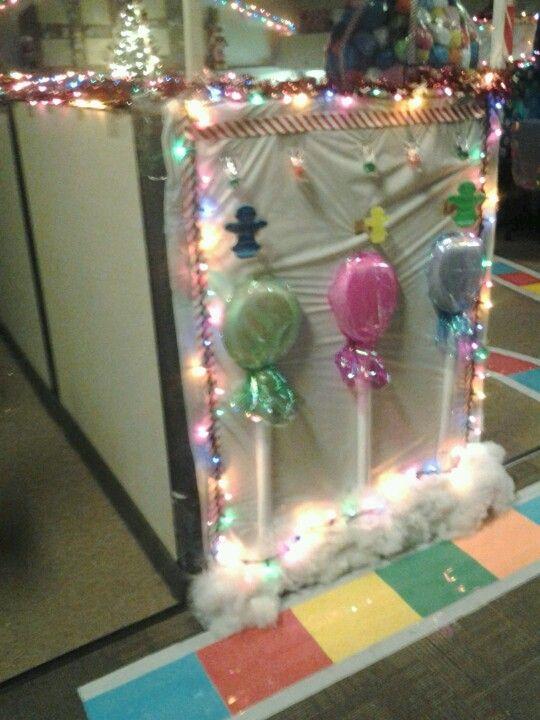 Candyland Christmas Door Decoration Ideas : Christmas at work candyland