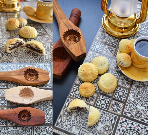 Semolina maamoul cookies and moulds - this woman has a beautiful blog ...