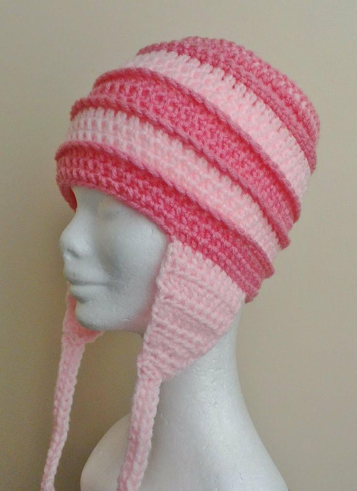 Crochet Tutorial Hat : Stripey Ears Hat Crochet Tutorial hat Pinterest