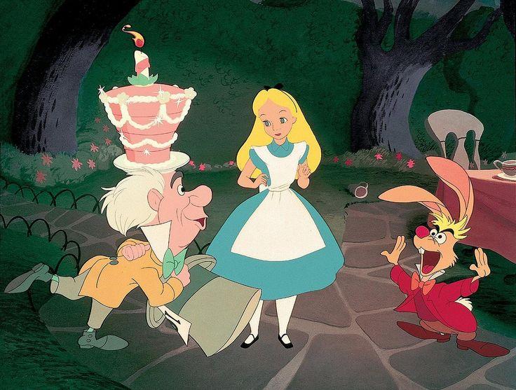 alice in wonderland mad hatter tea party happy unbirthday clip