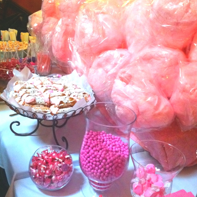 pretty in pink baby shower dessert bar baby shower pinterest