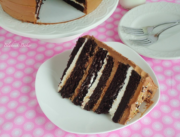 ... Chocolate Cake with Toasted Marshmallow Filling and Malted Chocolate