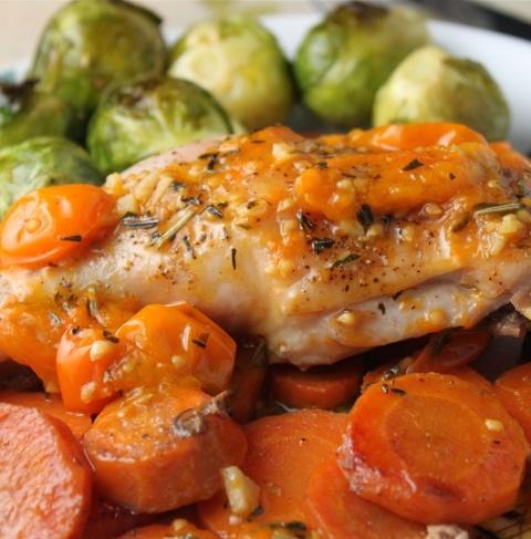 Five Spice Roasted Chicken Legs Recipe — Dishmaps