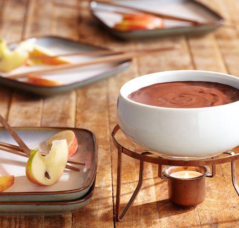Dark Chocolate Raspberry Fondue #Vitamix Use code 06-006499 for free ...