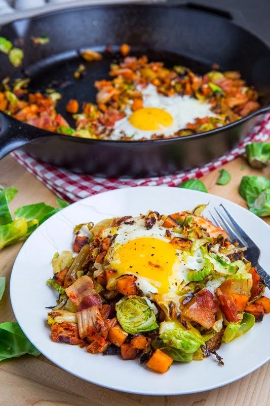 Yummy Recipes: Brussels Sprout Hash with Sweet Potato and Bacon recipe