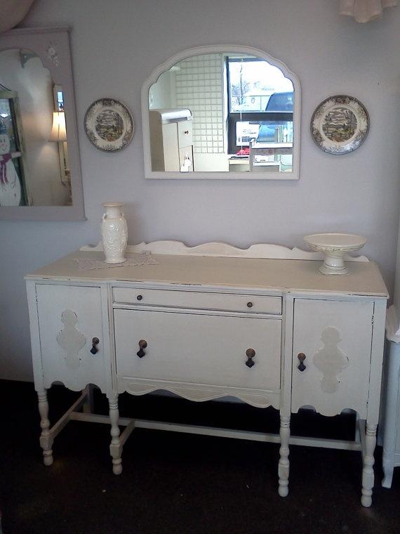 shabby chic painted vintage buffet vintage pinterest. Black Bedroom Furniture Sets. Home Design Ideas