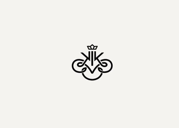 beautiful #monogram logo with crown