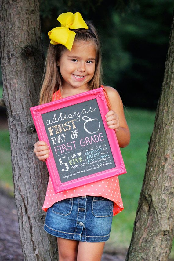 First Day of School Sign by Sassyrae on Etsy