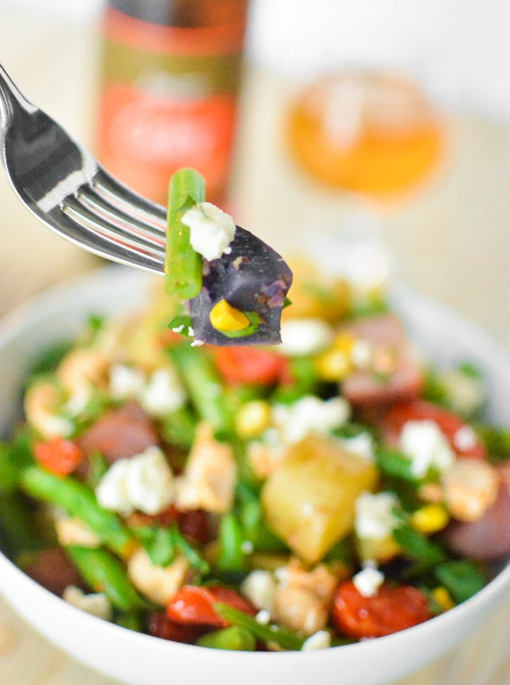 Green Bean Chicken Salad with Curry Vinaigrette | Recipe