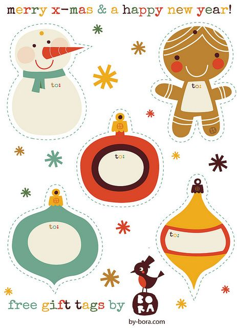 Free to download Gift Tags by BORA