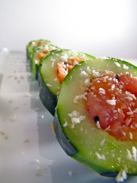 Smoked Salmon, Avocado Cucumber Sushi | FOOD...My favorite Topic | Pi ...