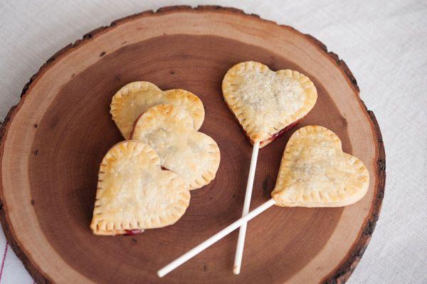 Mini Cherry Pies - Heart Shaped Pie Pops