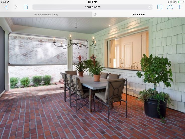 Outdoor dining and a pass thru window from the kitchen. Also like the