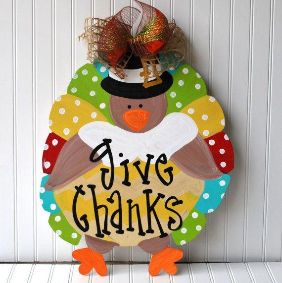 Decorating Ideas > Door Hanger Thanksgiving, Turkey, Door Decor  ~ 070224_Thanksgiving Decorations On Etsy