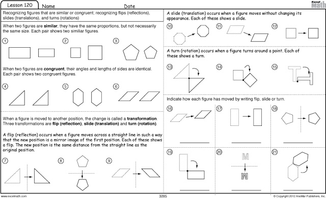 Similarity And Transformations Worksheet Davezan – Transformations Math Worksheets