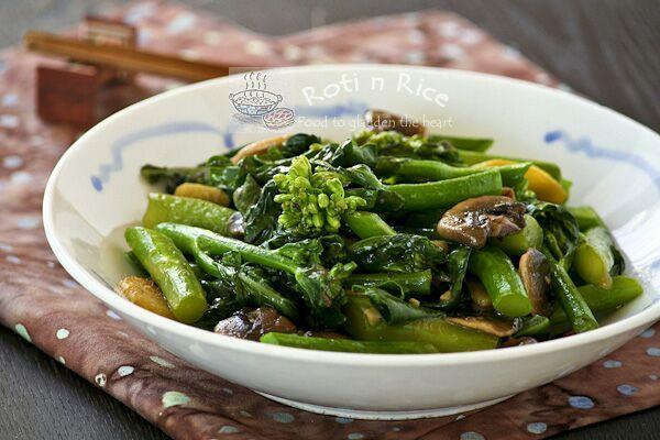 Stir Fry Gai Lan (Chinese Broccoli) - Roti n Rice